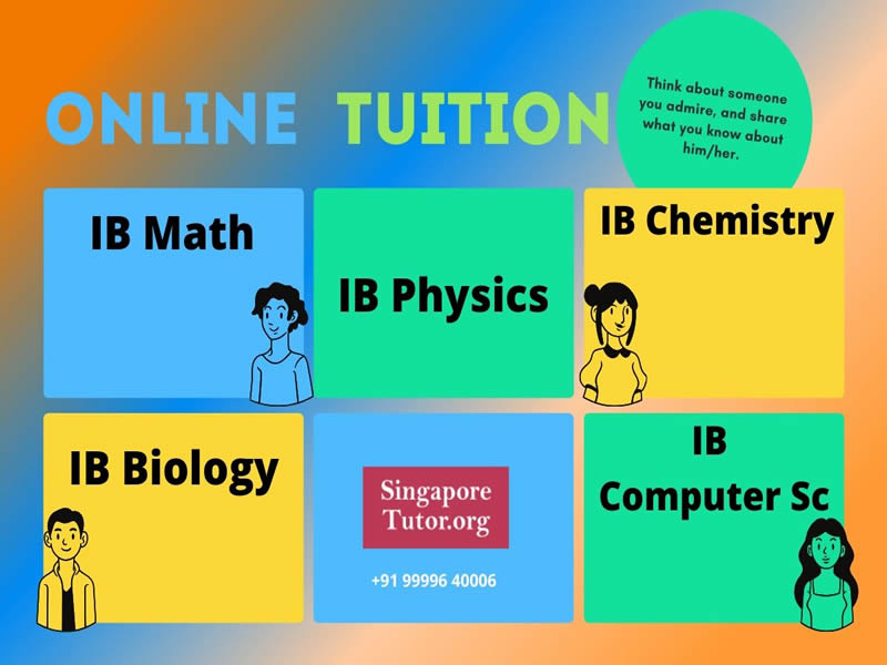IBDP IGCSE Tutor Tuition Teacher Singapore All Subjects