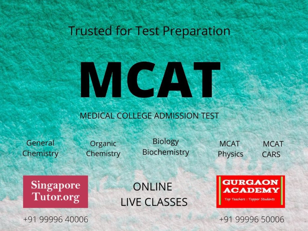 MCAT(Medical College Admission Test):Online Test Prep Coaching